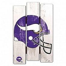 NFL Minnesota Vikings Wood Fence Sign, Black