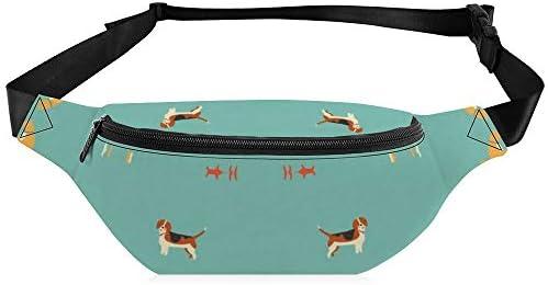 かわいい子犬 ウエストバッグ ショルダーバッグチェストバッグ ヒップバッグ 多機能 防水 軽量 スポーツアウトドアクロスボディバッグユニセックスピクニック小旅行