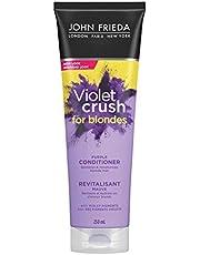 John Frieda® Violet Crush Purple Conditioner for Blondes, knocks out stubborn brassy tones, 250 mL