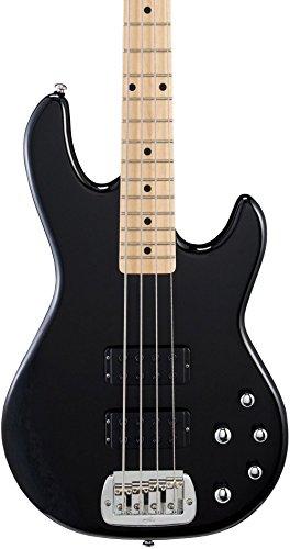 G&L Tribute M2000 4-String Electric Bass Gloss Black Maple Fretboard - Les Paul Swamp Ash Studio