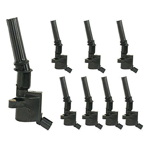 Ignitions Coils fit DG508 C1454 C1417 FD503 for Ford F-150 E-150 E-250 E-350 4.6L 5.4L 6.8L V8 V10 Lincoin Mercury 1997 1998 1999 2000 2001 2002 2003 2004 2005 2006 2007 2008 2009 2010 2011(8 pcs) ZBN