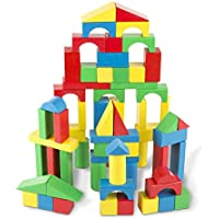 Melissa & Doug Wooden Building Blocks Set - 100 Blocks in...