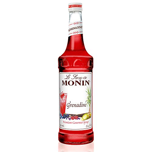 Monin - Grenadine Syrup, Delightfully Sweet, Natural Flavors, Great for Cocktails, Mocktails, Sodas, and Smoothies, Vegan, Non-GMO, Gluten-Free (750 ml)