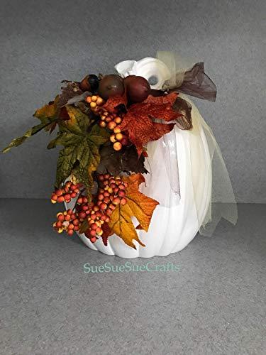One Large Tall Pumpkin, Thanksgiving, Fall, Autumn, Ceramic