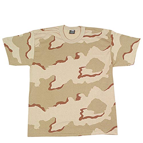 Rothco Kids T-Shirt, Tri-Color Desert Camo, Medium