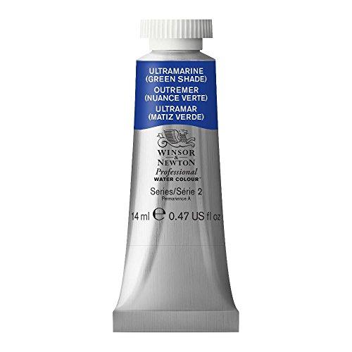 (Winsor & Newton Professional Water Colour Paint, 14ml tube, Ultramarine (Green Shade))