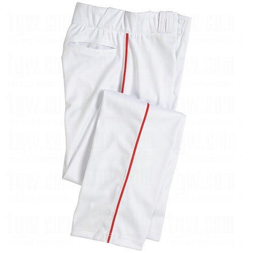 Champro Mens Dri-Gear Pro Plus Piped Open Bottom Pant Small White/Scarlet White|Scarlet Small