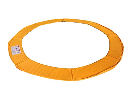 Exacme Trampoline Replacement Safety Pad Frame Spring Orange Color Round Cover 12-16 FT Pad (14ft)
