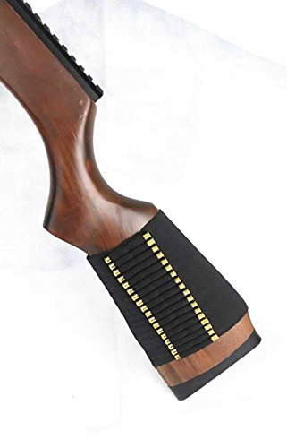 Ultimate Arms Gear Tactical Stealth Black 72 Round Rifle Ammo Shot Shell Cartridge Hunting Stock Buttstock Slip Over Carrier Holder Fits .22 Henry Lever Action 22 AR-7 Ambidextrous Use for Both Righty and Lefty Shooters Universal Bolt Lever Pump Action Sniper Rimfire Hunting Rifle
