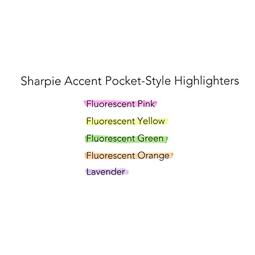 60%OFF Sharpie 1761732 Accent Pocket Style Highlighter, Fluorescent Yellow, 24-Pack