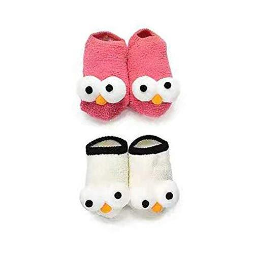 PanGa Baby Boys Girls Socks Set Anti-Slip Slippers Socks Soft Sole Toddler Infant Newborn First Walkers 3D Big Eyes Cartoon Crib Floor Socks (0-6 Months, -