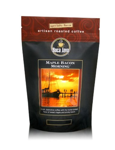 Maple Bacon Morning, Maple Bacon Flavored Coffee, Whole Bean, 8oz (2 Pack) - 2 Pack Bacon