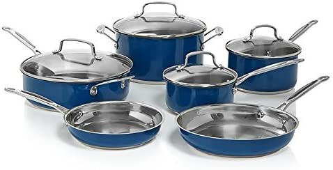 Stainless Steel Chef s Classic 10-Piece Cookware Set Blue