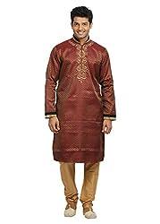 Saris and Things Rust Indian Wedding Kurta Pajama Sherwani for Men