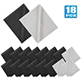 18 Pack Premium Microfiber Cleaning Cloths, Lintfree Fiber Cleaning Cloth for Cleaning Lenses, Glasses, Glass, Screens, Cameras, Cell Phone, Eyeglasses, LCD TV Screens, Tablets and More