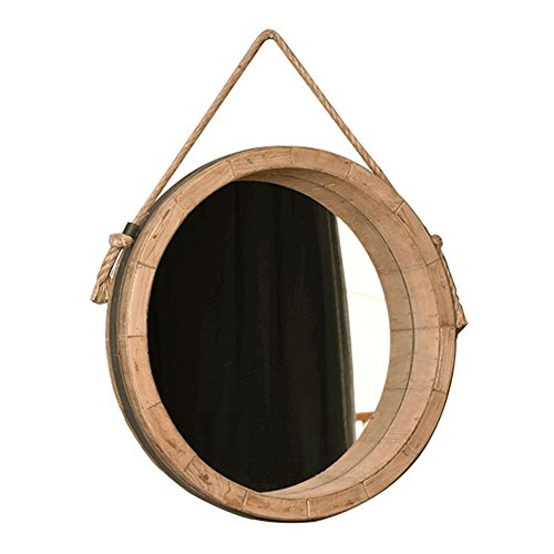 Mirror Bathroom European style old simple bathroom dressing table home round makeup (Size : 45cm) from Mirror