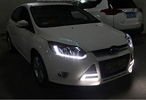 GOWE Car Styling Headlights for Ford Focus 2012-2014 LED Headlight for Focus Head Lamp LED Daytime Running Light LED DRL Color Temperature:6000k;Wattage:35w 3