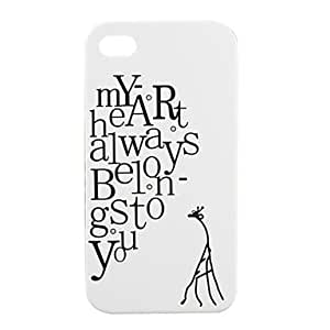 Lovers Protective PVC Case Cover for IPhone4(white)