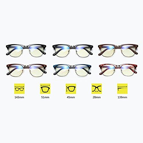 Simple ray blu Scrub Fashion Retro Black Tr90 Grand Anti Lunettes Meijunter Cadre De Personnalité C6wAq77Z