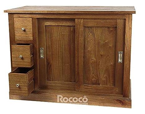 Rococo Mueble rústico para baño Mawiya de 100x79cm: Amazon ...