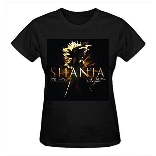 Charles Cheek Shania Twain Still The One Live From Vegas Women's Short sleeve Round Neck T Shirts Black