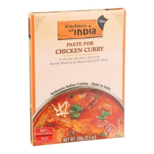 Kitchens of India Chicken Curry Paste, 3.5 Ounce - 6 per (India Gravy)
