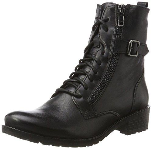 Caprice 25103, Botas Militar Para Mujer Negro (36)