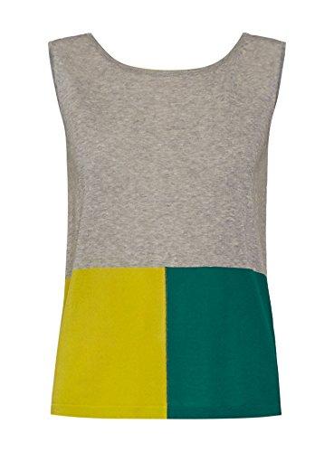 Pennyblack Oceano, Camisa para Mujer Gris Moyen