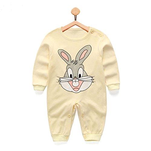 (CARMELA HILL WILLIAMS Cute Cartoon Baby Romper Cotton one Piece Jumpsuit Newborn Baby Girl Clothes)