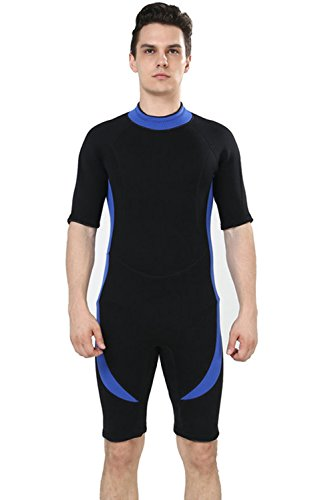 DEHAI Shorty Wetsuits Men and Women 3mm Premium Neoprene Stretch Panels  Youth Navigator Warm Jumpsuit Full Suit for Scuba Diving Snorkeling  Swimming Surfing 84684d3ae