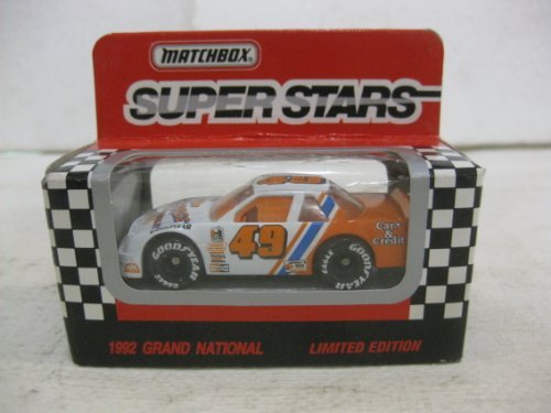Super Stars #49 Ferree Chevrolet Racing Nascar In White & Orange Diecast 1:64 Scale By Matchbox - Antique Matchbox Cars