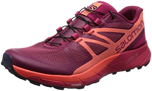 Rojo Living Mujer Zapatillas Virtual Coral Salomon 000 para Ride Pink Trail W Running Sense de Sangria qwgPz8