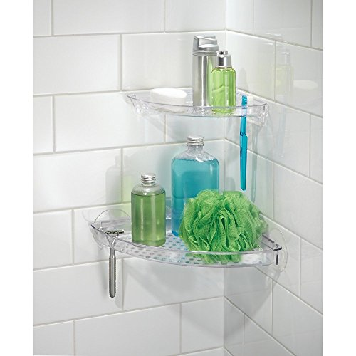 Interdesign Suction Bathroom Shower Caddy Corner Shelf For