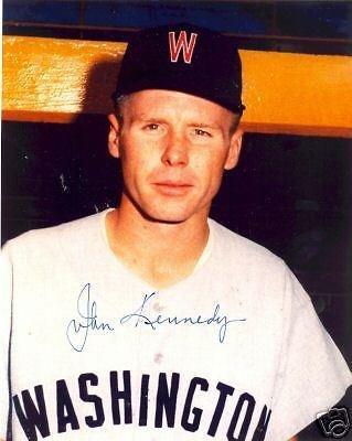 John Kennedy Washington Senators Signed 8x10 Photo Coa - Autographed MLB Photos by Sports Memorabilia