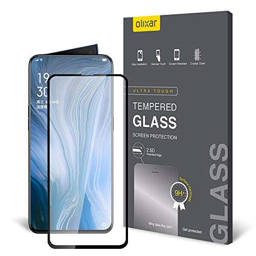 Olixar Oppo Reno 10X Zoom Screen Protector, [Tempered Glass] - Easy Application - 9H Hardness Anti Scratch, Bubble Free, Anti Fingerprint for Oppo Reno