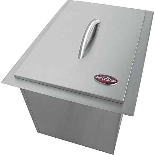 Cal Flame BBQ11864 Drop in Ice Bucket Insulated Built in Drain, Lid 1-Piece Handle, Stainless Steel -