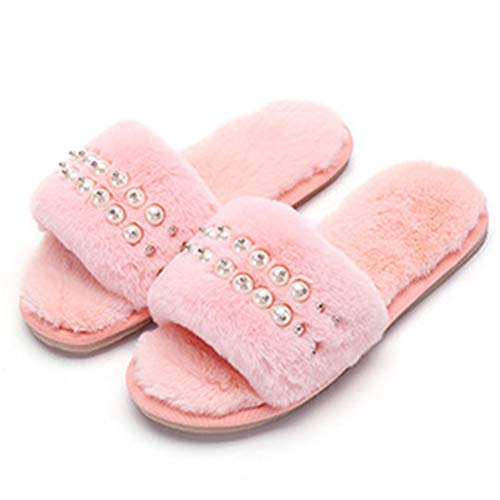 Indoor Toe Fluffy Bagno Letto Da Comfort Forte Lovely Shoes Donna Open Peluche Girls In Infradito Con Camera Invernali Pantofole Rosa Tallone USFxB