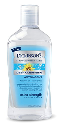 (Dickinson's Enhanced Witch Hazel Extra Strength Deep Cleansing Astringent, 16 Fluid Ounce)