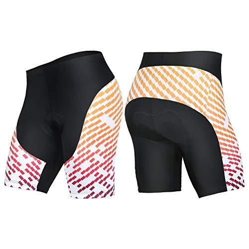 4ucycling Men's Cycling Shorts 3D Gel Padded Bicycle Riding Pants Bike Biking Clothes Cycle Wear Tights