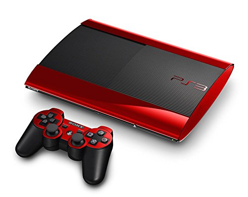 (Sony PlayStation 3 Super Slim Skin (3rd Gen) - NEW - RED CHROME MIRROR system skins faceplate decal mod)