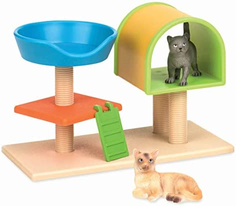 Terra by Battat Cat Tree Cat Toy Animal Figure Playset for Kids 3-Years-Old and Up 3 pc