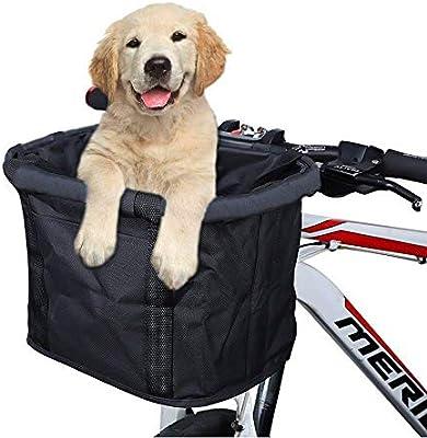 Cesta para bicicleta, plegable, pequeño, mascota, portador, frente ...