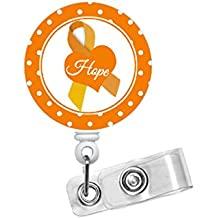 Leukemia Awareness Badge - Retractable Id Badge Holder - Cute Id Badge Reel - Name Tag Holder - Nursing Badge Clip - Hematology Specialist