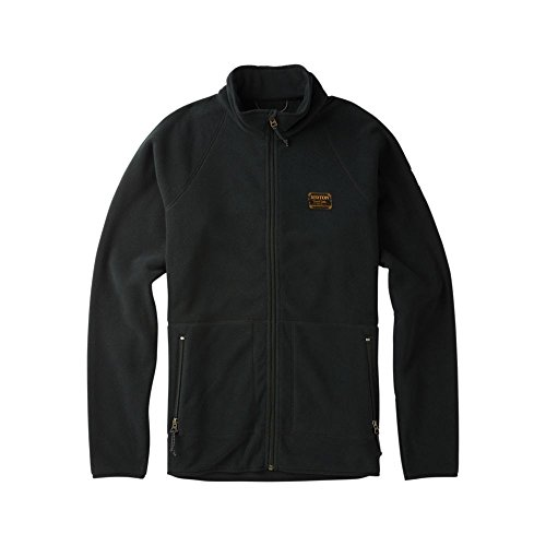 Burton Clothing Mens (Burton Men's Ember Full-Zip Fleece, True Black, Large)