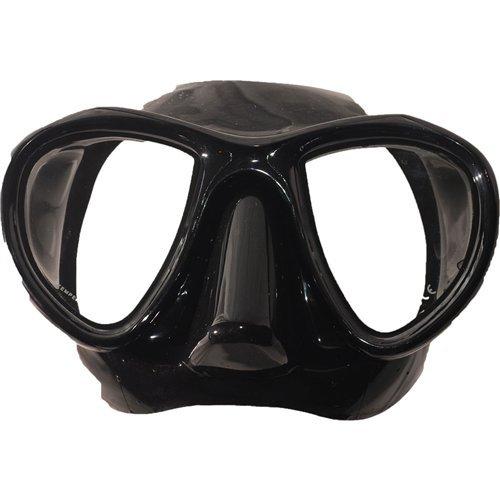 Blue Reef Two Window Scuba Diving Mask, Black