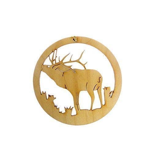 Personalized Elk Ornament - Elk Gift - Wildlife Ornament - Gift for Hunter