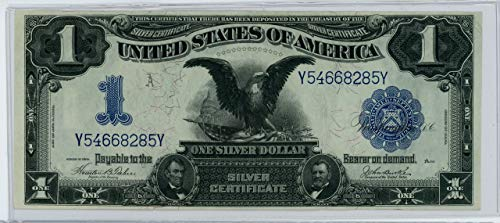 (1886 Black Eagle Silver Certificate One Dollar Note Blue Seal $1 Very Fine)