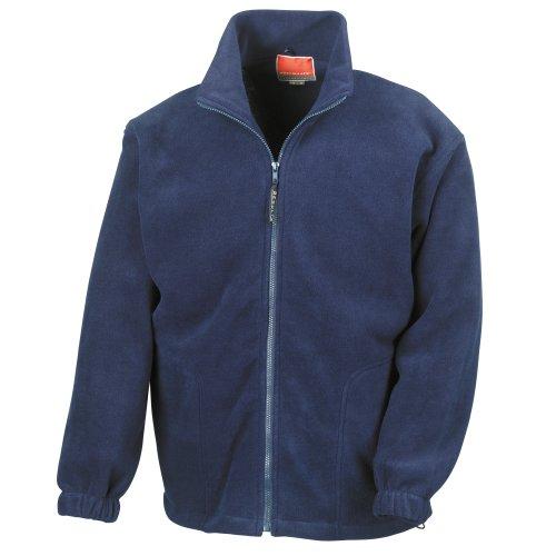 Result Mens Full Zip Active Fleece Anti Pilling Jacket (L) (Navy Blue) ()