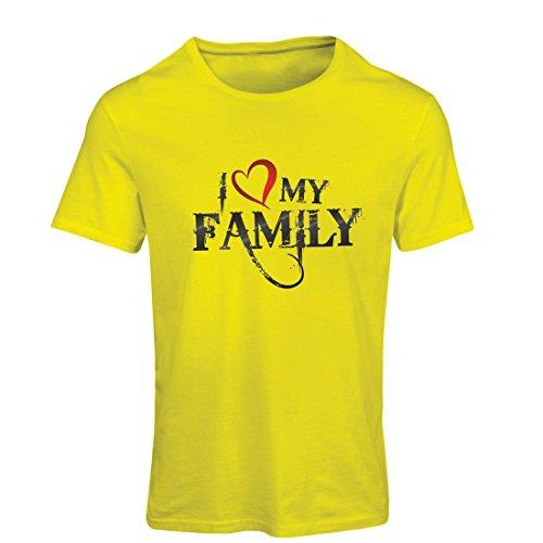 Camiseta Mujer Camisas de diseñador únicas Muestran tu Amor: increíbles Conjuntos a Juego con la Familia (Large Amarillo...