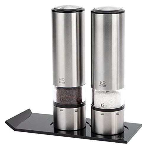 Peugeot Elis Sense u'Select Stainless Steel 8 Inch Electric Salt and Pepper Mill Set